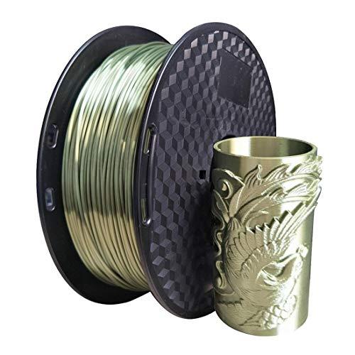 KEHUASHINA Filamento PLA 1,75 mm di diametro per stampante 3D - Brillante seta metallizzata Lustro - 1kg (2,2LB) Raso di seta Pla - Accessori per stam