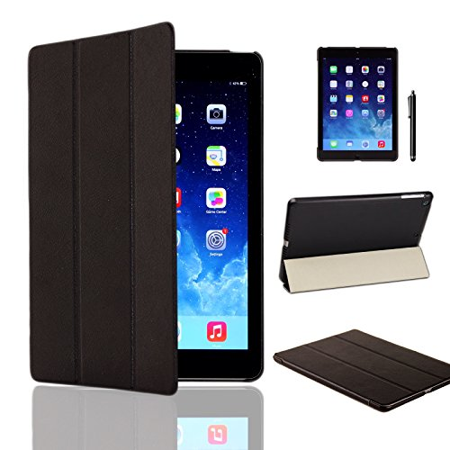 MOFRED Black Ultra Slim Apple iPad Air (Released November 2013) Leather Case Cover, Full Protection Smart Cover for iPad Air iPad 5 5th With Magnetic Auto Wake & Sleep Function