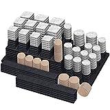 Fieltro Adhesivo - cotwoco Set de 300 Almohadillas para Protección del Suelo-Todos Los Tamaños de Fieltro Autoadhesivo para Muebles - Protectores de Piso Premium para Muebles