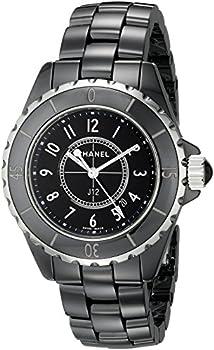 CHANEL Women s J12 Ceramic & Stainless Steel Watch Black