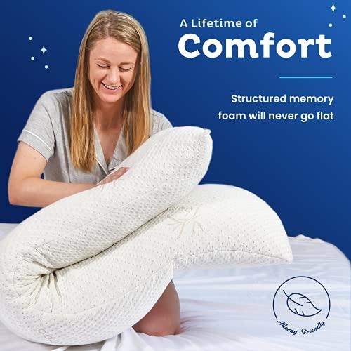 Snuggle-Pedic Bamboo Full Size Body Pillow