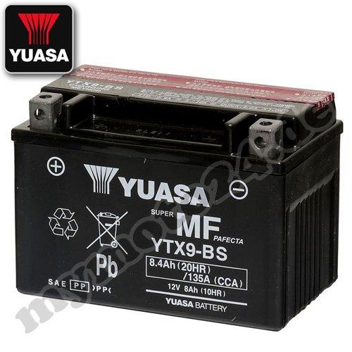 Yuasa Batteria YTX9-BS, 12V/8 Ah (dimensioni: 150x 87x 105 mm)