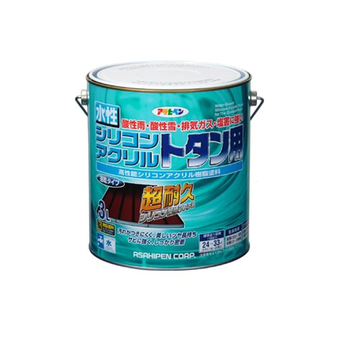 すり減る気づく送金アサヒペン 水性シリコンアクリルトタン用 赤さび 3L