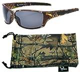 Hornz Forrest braun Camouflage polarisierten Sonnenbrillen für Männer voller Sport Rahmen & freie passende Beutel aus Mikrofaser – Braun Camo Rahmen - Rauch- Objektiv