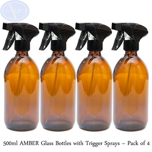 Botellas cristal AMBER 500 ml pulverizadores negros