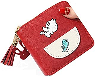 MOCA womens Girls Ladies Female Short Mini Small Clutch Wallet coin purse debit credit card cash holder wallets for womens Women's Ladies girls