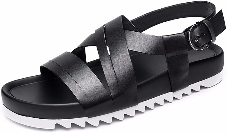 JIANXIN Seali Uomo Estate Tendenza personalità della Moda Rouomoa Sautope da Uomo in Pelle Spessa Pantofole Parola Usura Esterna (Dimensioni   EU 40 US 10 UK 8)