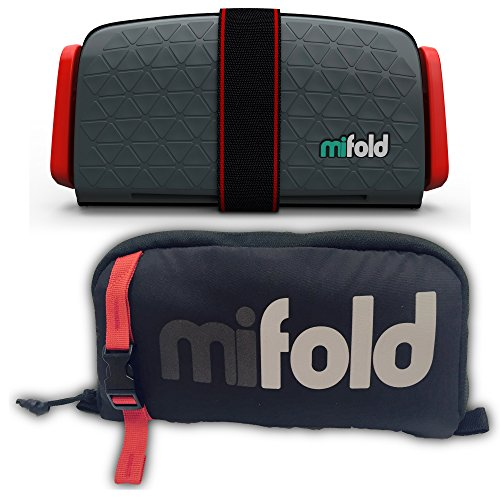 %26 OFF! mifold Grab-and-go Car Booster Seat with Carry Bag, Slate Grey – Compact and Portable Boo...