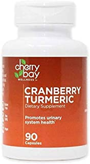 Cranberry Turmeric Dietary Supplement 480mg | 90 Count Bottle, case of 12 | Non-GMO & Gluten Free | Helps to Support a Healthy Urinary System