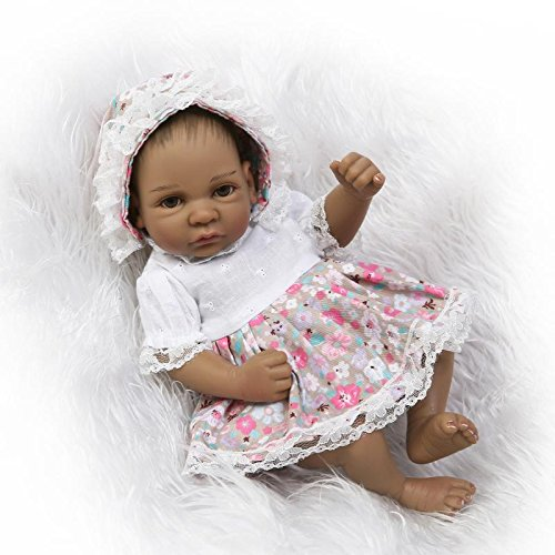 Zero Pam 10 Inch Preemie Baby Reborn Dolls Girl Silicone Full Body Black Newborn Baby Dolls African American Realistic Looking Hand Paintd Hair