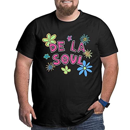 De La Flower Fashion and Comfortable Cotton Men's Short-Sleeve Plus Size T-Shirt
