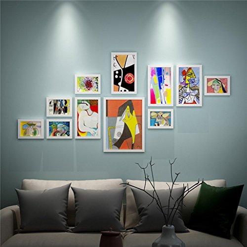 PanYFDD Portafotos de madera, marco vintage, marco para complementos de decoración puerta retro escalera, restaurante, bar, familia, galería (color: blanco)