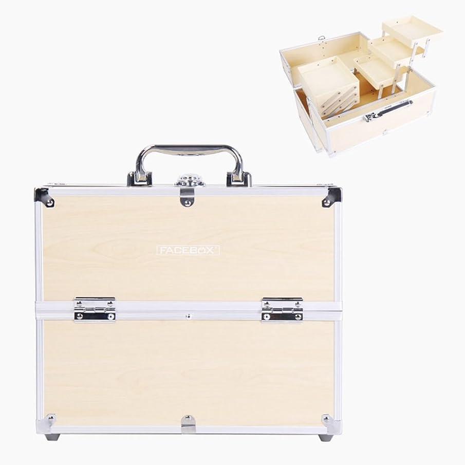 写真撮影病な整理する「XINXIKEJI」メイクボックス コスメボックス 大容量 2段/3段 化粧ボックス スプロも納得 収納力抜群 鍵付き かわいい 祝日プレゼント  取っ手付 コスメBOX