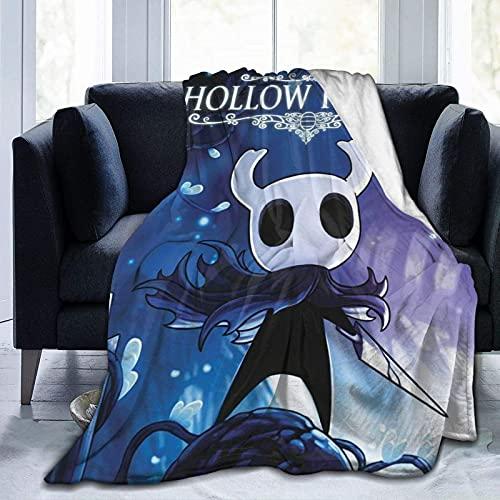 Manta de forro polar para cama con diseño de caballero hueco, muy suave, para ropa de cama, sofá y viajes para todas las estaciones para niños, adultos, 127 x 101 cm