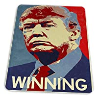 マウスパッド ゲーミングマウスパッド-大統領の勝利キャンペーンのためのドナルドトランプ滑り止め デスクマット 水洗い 25x30cm