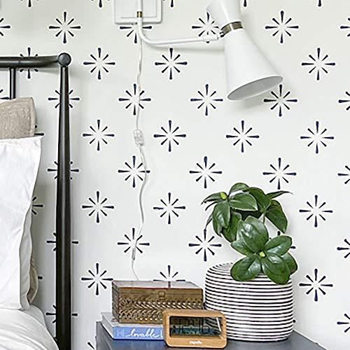 STENCILIT Starburst - Plantillas de pared para pintura (tamaño XL, 61 x 100 cm), diseño floral minimalista para pared