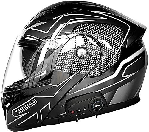 Bluetooth de la motocicleta Casco, de tipo modular de doble volteo visera del casco completo, el DOT certificado Casco, incorporado en MP3 FM Broadcast Integrado de intercomunicación Sistema de comuni
