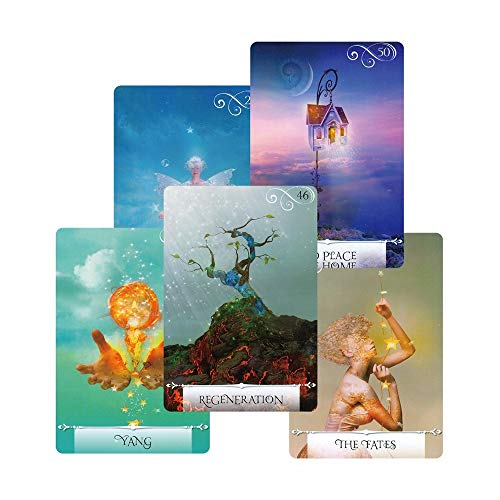 URNOFHW 2020 Wisdom Oracle-Karten Deck, 52 Karten, Rätsel Wahrsagerei Tarotkarten Spiel Anleitung lesen Fate Brettspiel