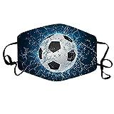 Lomelomme Baseball Mundmaske, Waschbare Lustig 3D Stoff Mundschutz Halstuch Mehrweg Atmungsaktive Multifunktionstuch, Mund und Nasenschutz (B)