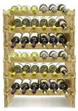 Sorbus 6-Tier Stackable Bamboo Wine Rack— Classic Style Wine Racks for Bottles— Perfect for Bar, Wine...