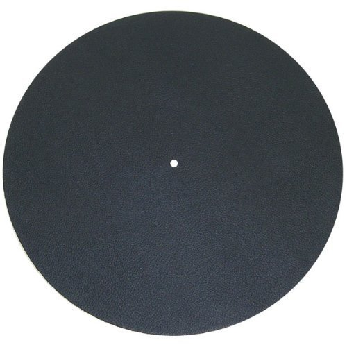 Pro-Ject Leather it, Plattentellerauflage aus Leder (Schwarz)