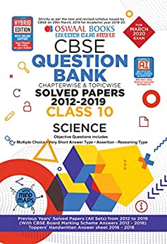 Oswaal CBSE Question Bank Class 10 Science Chapterwise & Topicwise (For March 2020 Exam) by [Oswaal Editorial Board]