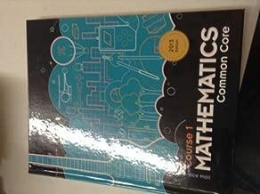 course 1 mathematics common core 2013 edition