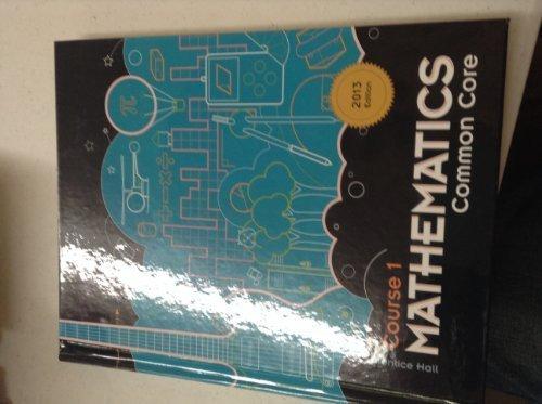 Prentice Hall Mathematics Course 1 Common Core 2013 Edition ISBN 125673716X 9781256737162 (2013-05-04)