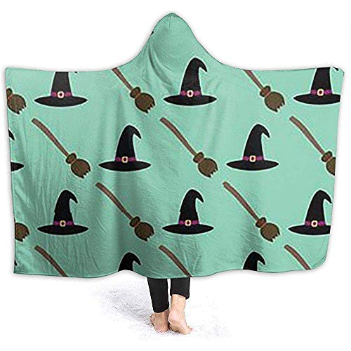 ZAlay Halloween Hexe Hüte Besen Kapuze Decken Herren Frauen Softdecke