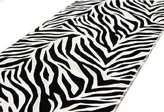 12'' x 108'' Safari Animal Print Zebra Table Runner - Black on White
