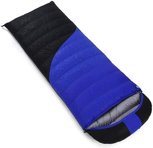 FEIYUESS Sac de Couchage enveloppe, Camping en Plein air pour Adultes Garder au Chaud Le Sac de Couchage, Peut être collé dans Un Sac de Couchage Double (Couleur   bleu 3, Taille   1.2KG)