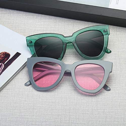 Gbcyp Vrouwen mode retro kat oog zonnebril vierkante bril lampenkap