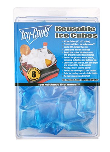 Icy Cools BLUE Reusable Ice Cubes for Coolers, Lunchboxes and More!