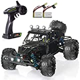 ★★★SUPERIOR CONTROL EXPERIENCE★★★ With a range of up to 260 feet and highly responsive steering and throttle, the ergonomic transmitter of the radio remote control car ensures superior control. ★★★POWERFUL SPEED★★★ This remote control truck is desi...