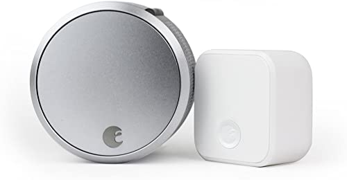 August Smart Lock Pro + Connect, 3rd gen Technology, Compatible with Alexa, AUG-SL03-C02-S03, 1.5V