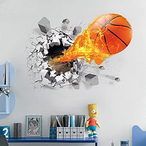 Pegatinas De Pared 3D Extraíbles Pegatinas De Pared De Baloncesto 3D, Papel Tapiz Para Decoración Del Hogar, Para Habitación De Niños, Calcomanías Murales Para Dormitorio, Para Niños De Dormitorio