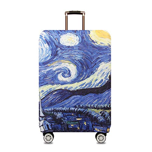 SHIWU スーツケースカバー 伸縮素材 旅行 出張 荷物 トランク カバー 耐久性 防塵 防水 盗難 雨 汚れ 傷 防止 L