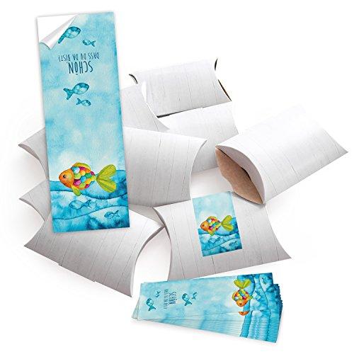 25 kleine doosjes wit + 25 mooi dat je da bist sticker verpakking gastgeschenk communie tafelkaart kinderen verjaardag cadeaudoos give-away