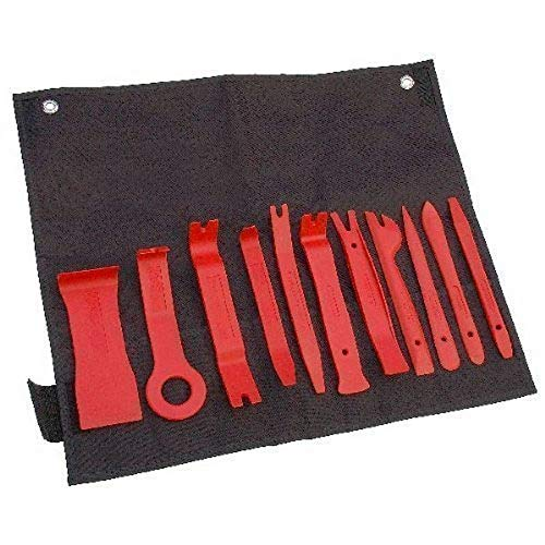 Neilsen CT2287-Juego para quitar y ajustar tapicerías de coches (11 herramientas)