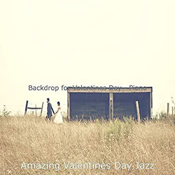 Backdrop for Valentines Day - Piano