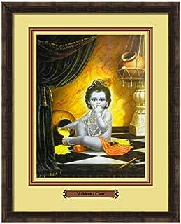 Elegant Arts & Frames Makhan-Chor Multicolour Print 14 x 11 Photo Frame