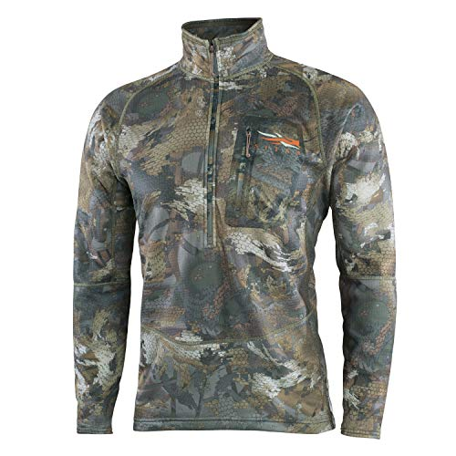 SITKA Gear Men's Grinder Half-Zip Insulated Waterfowl Concealing Hunting Pullover, Optifade Timber, X-Large
