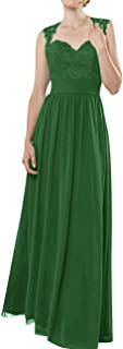 Prom Dress Long Evenig Gowns for Wedding Lace Bridesmaid Dress Chiffon Prom Gown A line