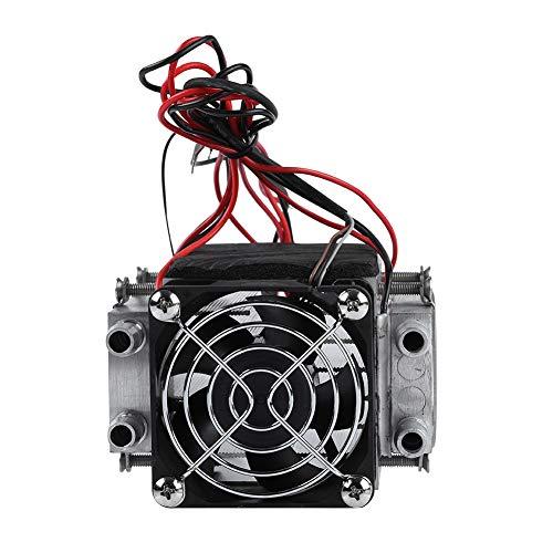 Mugast DIY halfgeleider-koelkast, DIY kit mini airconditioning, conductiemodule halfgeleider koelkast met refrigeration koelsysteem, 280 W vermogen, waterkoelbuis, aluminium materiaal