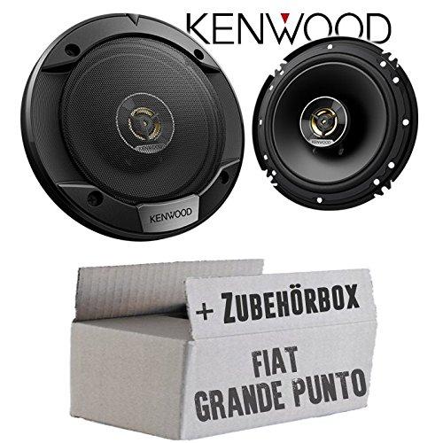 Lautsprecher Boxen Kenwood KFC-S1676EX - 16cm 2-Wege Koax Auto Einbauzubehör - Einbauset für FIAT Grande Punto 199 Front - JUST SOUND best choice for caraudio