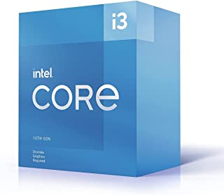 Intel i3-10105F CPU 3.7GHz (4.4GHz Turbo) LGA1200 10th Gen 4-Cores 8-Threads 6MB 65W Graphic Card Required Box 3yrs Comet ...