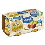 Nestlé Selección Tarrito de puré de fruta, variedad Frutitas del Campo - Para bebés a partir de 4 meses - Paquete de 5x2 Tarritos de 200g