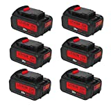 6 Pack 6000mAh Lithium-ion Replacement for Dewalt 20V Max XR Battery DCB205 DCB206 DCB206-2 DCB203 DCB204 DCB204BT-2 DCB201