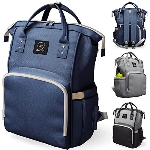 XXL Kapazität Windelrucksack dunkelblaue Farbe Marke Beartop