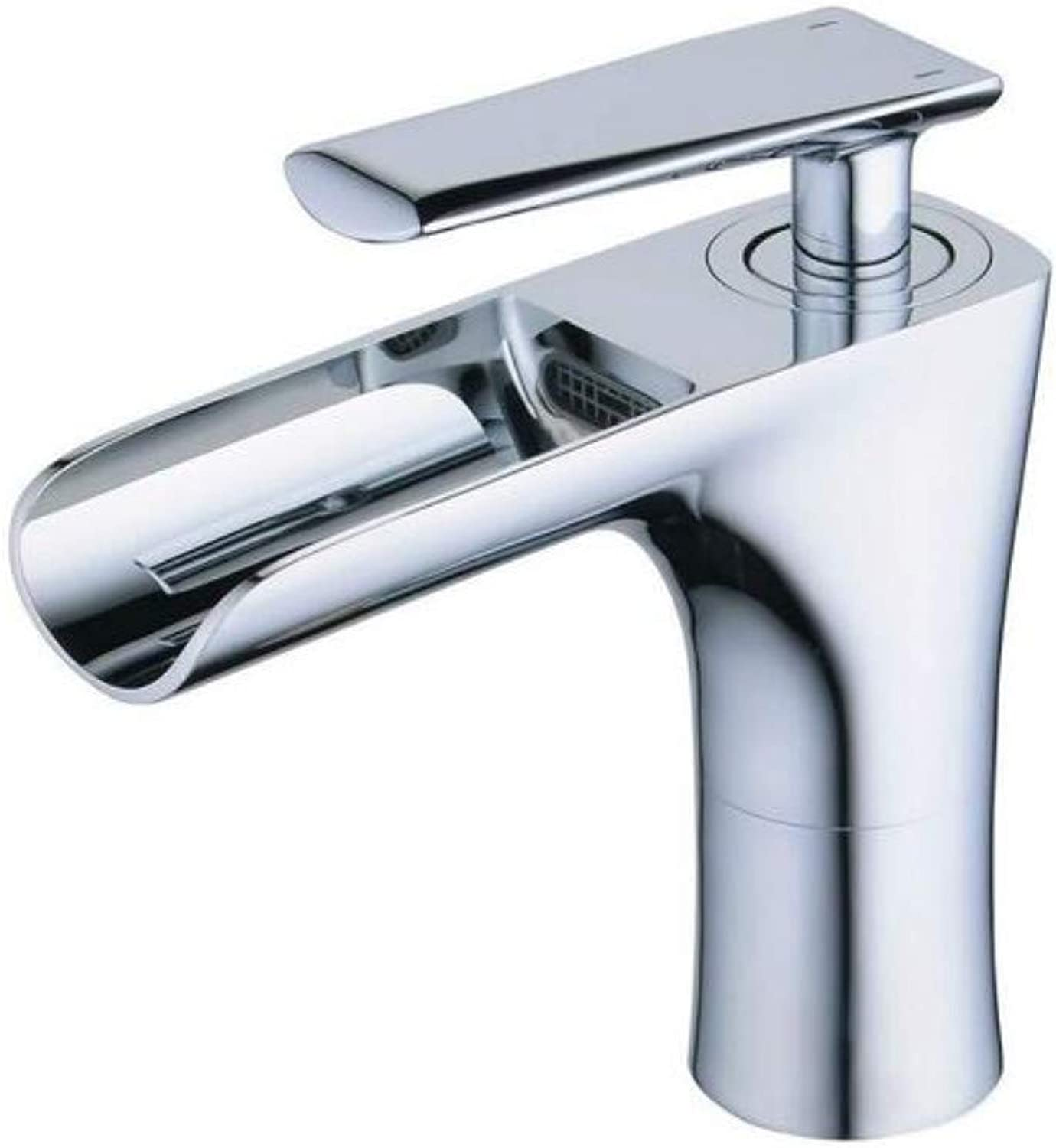 Brass Wall Faucet Chrome Brass Faucetsingle Lever Single Hole with Fittings Polished Chrome
